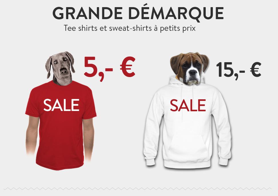 Sweats à 15€ et Tee-shirts originaux