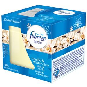 2x Bougie classique Fébreze (Vanille ou coton)