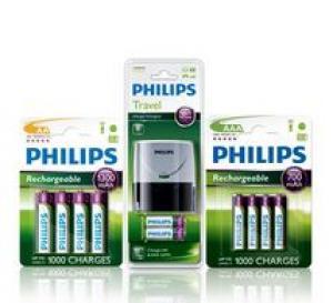 PHILIPS Pack batteries rechargeables et chargeur