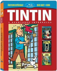 Blu Ray Tintin 3 aventures - Vol. 7 : Les Bijoux de la Castafiore + Vol 714 pour Sydney + Tintin et les Picaros