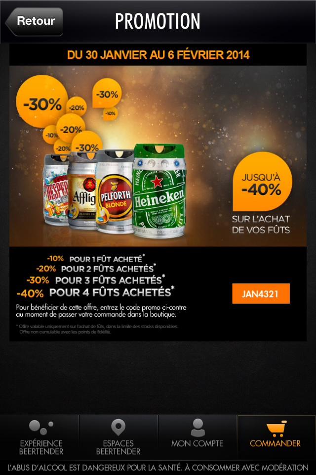 40% de réduction pour l'achat de 4 fûts de bière Beetender