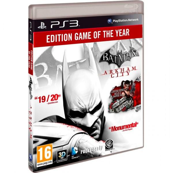 Batman Arkham City Edition jeu de l'année sur PS3