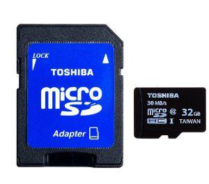 Carte Micro SD Toshiba 32Go - Class 10