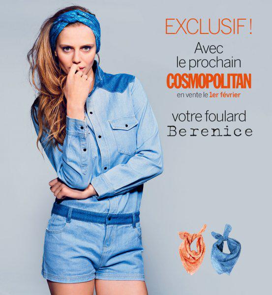 Foulard Berenice offert dans votre magazine Cosmopolitan