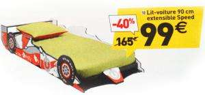 Lit voiture 90cm extensible Speed