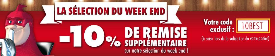 10% de remise supplémentaire sur la sélection du Week-end