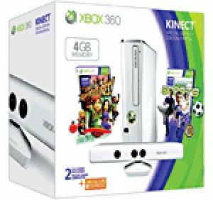 Console Xbox 360 4 Go Microsoft blanche + capteur Kinect blanc + Kinect Sports + Kinect Adventures + 3 mois d'abonnement au Xbox Live Gold