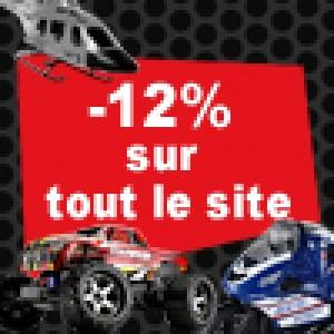 12% de réduction sur tout le site dès 50€ d'achats !