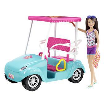 Barbie Skipper Voiturette de Golf Mattel (Poupée Skipper incluse)