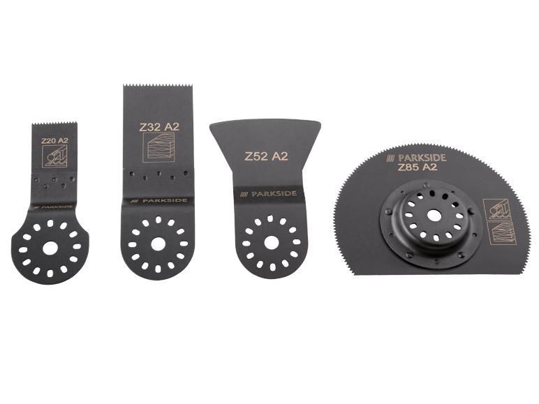 Set de 4 lames pour outil multifonction Parkside (compatible Bosch)