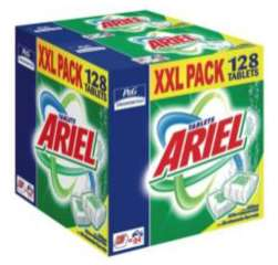 Lessive en dose Ariel Tablettes Pack XXL 128 doses