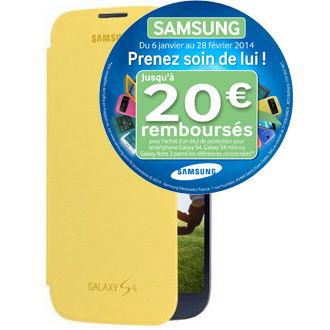 Housse pour telephone Samsung Etui Flip Cover EF-FI950J Galaxy S4 Jaune gratuite avec ODR (2,9€ de port)