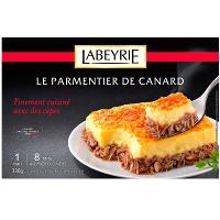Parmentier surgelé Labeyrie au 2 saumons ou canard aux cèpes 330 g