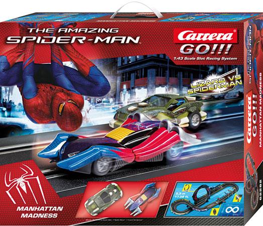 Circuit Carrera Go The Amazing Spiderman avec Véhicules Miniatures