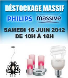 Déstockage luminaires Philips et Massive (voir description)