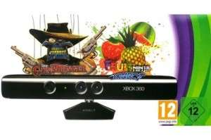 Capteur Kinect + Kinect adventures ! + The Gunstringer + Fruit Ninja