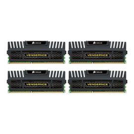 Memoire ram Corsair Vengeance - 16 Go : 4 x 4 Go - DIMM 240 broches - DDR3 - 1866 MHz / PC3-15000 - CL9 - 1.5 V