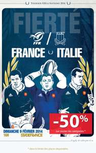 50% de réduction sur les places Rugby France / Italie - Tournoi Rbs 6 Nations 2014