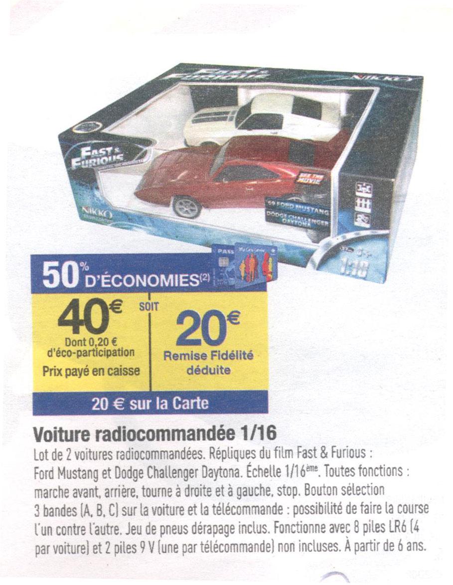 Voitures radiocommandées Nikko duo Mustang & Dodge Daytona RTR  (1:16)