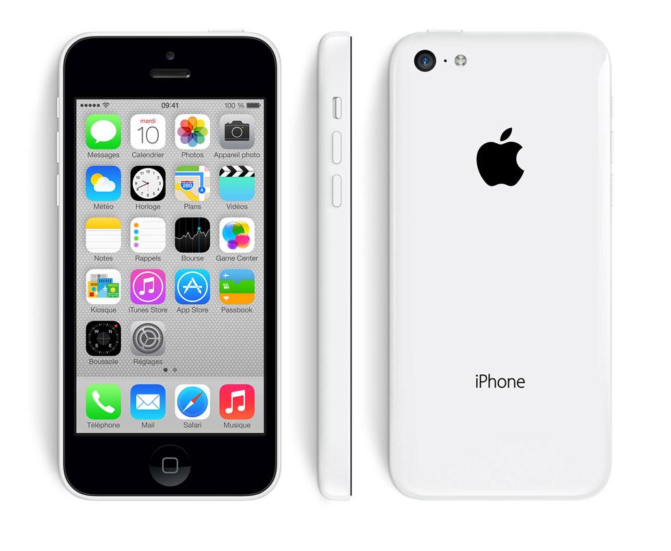 Apple iPhone 5C 32Go - Blanc, jaune ou rose
