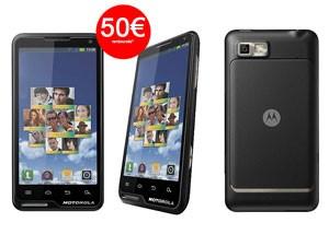 Smartphone Motorola Motoluxe noir avec ODR (50€) et code promo
