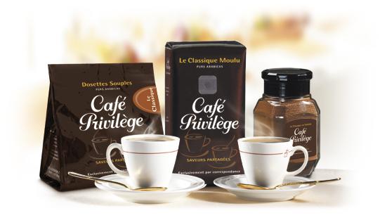 50 % de réduction sur le site Cafe Privilèges