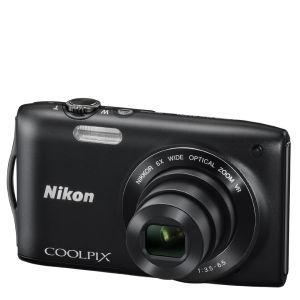 """Appareil photo Nikon Coolpix S3300  (16 Mpx, 6x Optique, 2.7"""") Noir - Reconditionné (Grade A)"""