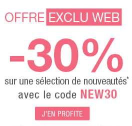 -30% sur la nouvelle collection