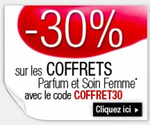 -30% sur une sélection de coffrets parfum et soin femme