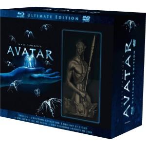 Avatar version longue : Coffret 3 DVD + 3 Blu-ray Edition limitée et numérotée avec statuette + livre
