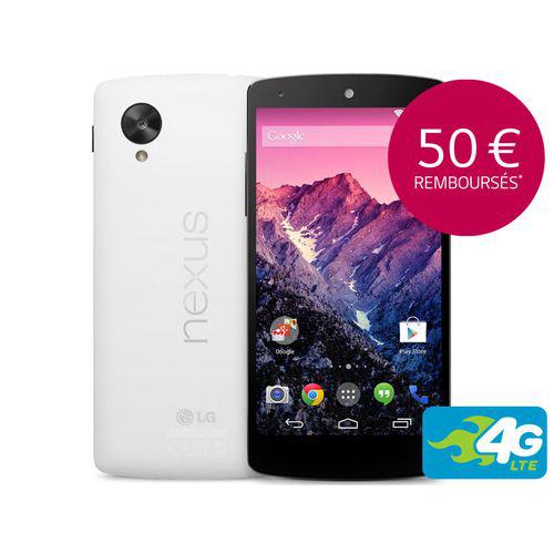 Smartphone Nexus 5 Blanc 16 Go (Avec ODR de 50€)