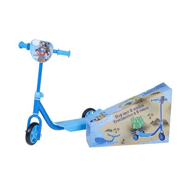 Trottinette 3 roues Pirates bleu (existe en rose Princesse)