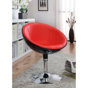 Fauteuil Design GIRO noir et rouge