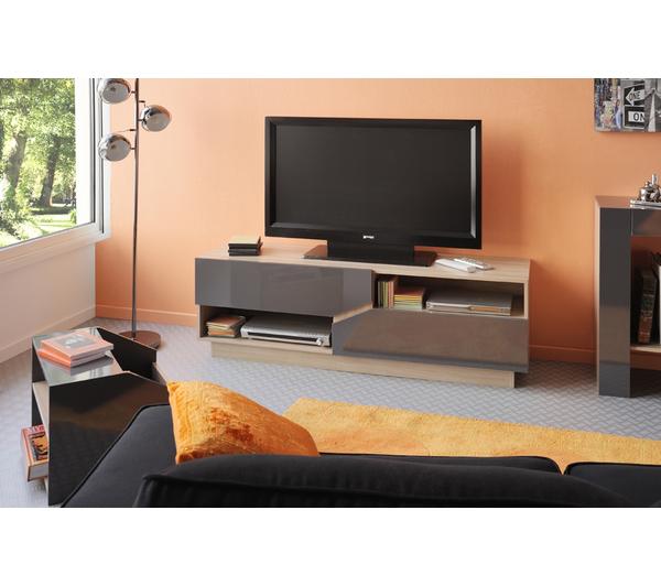 Meuble TV Opale (2 niches, 2 tiroirs)