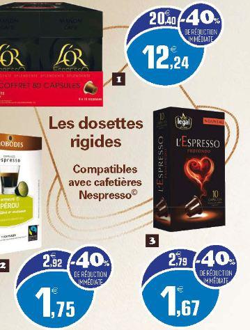 Sélection de capsules compatibles Nespresso en promotion,