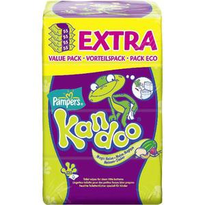 lot de 4 paquets de lingette kandoo (1€ en bon de réduction)