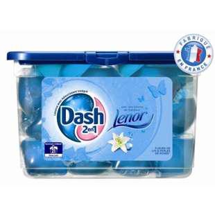 Lessive écodoses Dash 2 en 1 (40 doses)