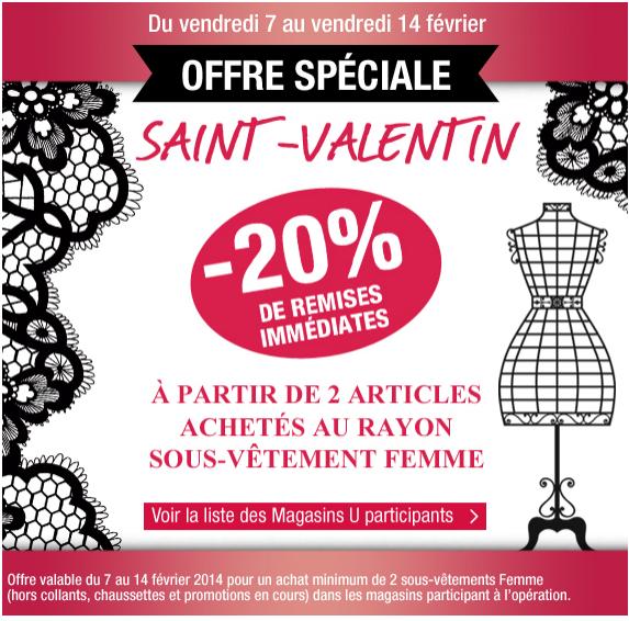 -20% sur les sous-vêtements femme à partir de 2 articles achetés