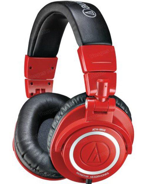 Casque fermé Audio-technica ATH-M50 Edition limitée - rouge