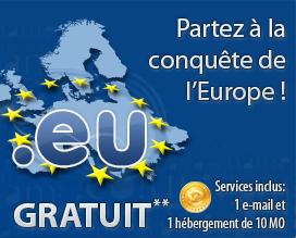 Nom de domaine en .eu gratuit pendant un an (au lieu de 7€/an)