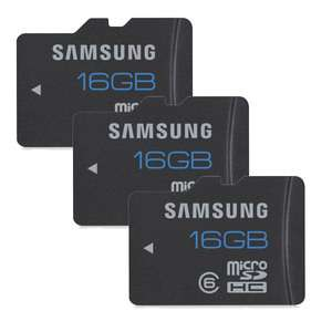 Lot de 3 Samsung microSDHC 16 Go (5.95€ de port)