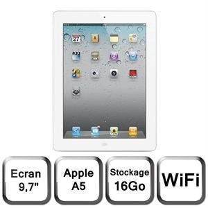 Apple iPad 2, en version Wifi 16Go blanche