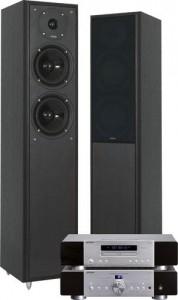 Chaîne Hi-Fi composée : ampli Advance MAX-150 + platine CD Advance MCX-300 + enceintes Eltax Monitor IX + Casque Panasonic RP-HTX7E pour 1€ de plus
