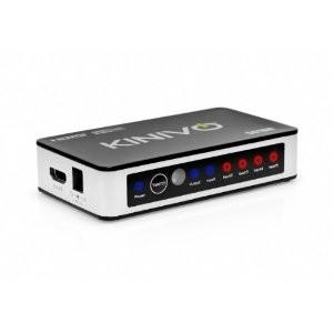 Switch HDMI (Compatible 3D, 1080p) + Commande à distance IR,  Kinivo 301BN 3 ports à 15.99€ ou Kinivo 501BN  5 ports