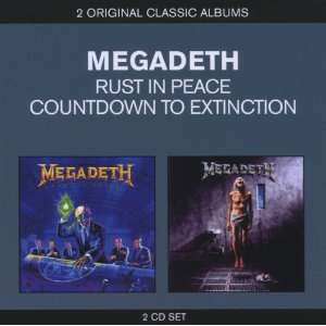 Coffret 2 CD Megadeth : Countdown To Extinction/Rust in Peace