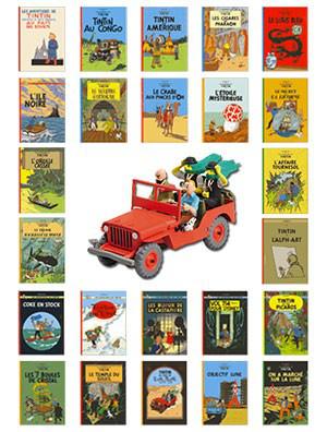 BD : Tout Tintin (24 albums) + voiture de collection offerte
