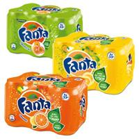 Lot de 2 packs de Fanta Orange ou Citron (6x33cl)