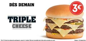 Burger Triple Cheese