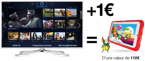 10% de réduction immédiate sur une sélection de TV Samsung + une tablette enfant Kidspad 3 offerte pour 1€ de plus