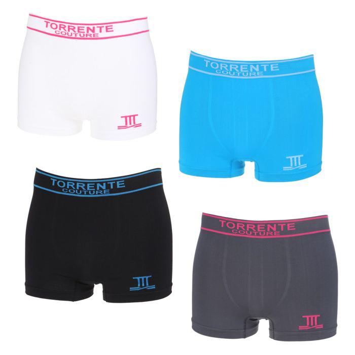 Lot de 4 boxers Torrente couture - Plusieurs coloris